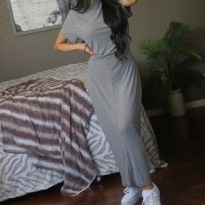 Urban Outfitters Cut Out Striped Maxi Dress